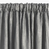 Curtain LOPPA 1x135x245 crinkle grey