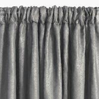 Gardin LOPPA 1x135x245 rynke grå