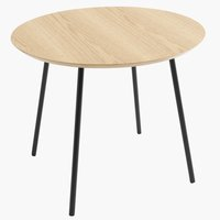 End table TERP D55 cm oak/black