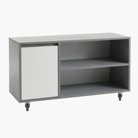 TV bench BILLUND white/concrete