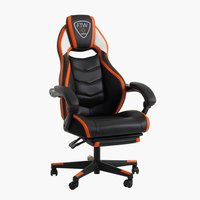 Gaming-stol GAMBORG sort/orange