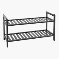 Shoe rack UGGERBY 2 shelves black