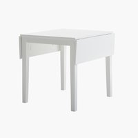 Dining table NORDBY 80x70/120 white