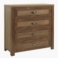 4 drawer chest JUNGEN wild oak