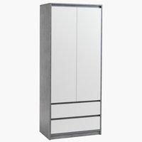 Wardrobe BILLUND 80x192 white/concrete