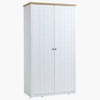 Wardrobe MARKSKEL 112x210 white/oak