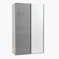 Kledingkast TARP 120x201 betonlook/wit