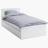 Bed frame LIMFJORDEN Single white