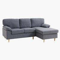 Sofa GEDVED Chaiselongue grau